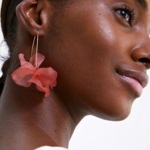 2/$35 🖤 ZARA Oversized Long Pink Floral Earrings